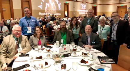 We had a blast with our lunch guests! From left to right: Tom Ringham - Eskenazi, Brian Hall - Repro Graphix, Jenelle Smagala - Synthesis, Jason Larrison - CORE, Caroline Hall - Repro Graphix, Ken Alexander - CTI, Marty Wood - IU Health, Jill Hall - Repro Graphix, and Pat Drewry - Drewry Simmons Vornehm
